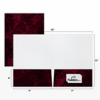 9 x 12 Presentation Folders - Standard Two Pocket Rosewood Marble