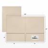 9 x 12 Presentation Folders - 80lb. Sandstone Felt Sandstone Felt