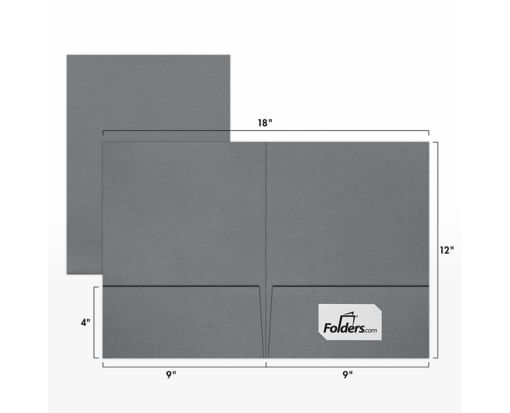 9 x 12 Presentation Folders Sterling Gray Linen