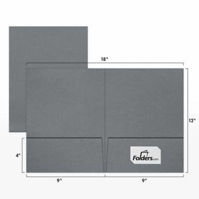 9 x 12 Presentation Folders Sterling Gray Linen