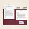 9 x 12 Presentation Folders Burgundy Linen