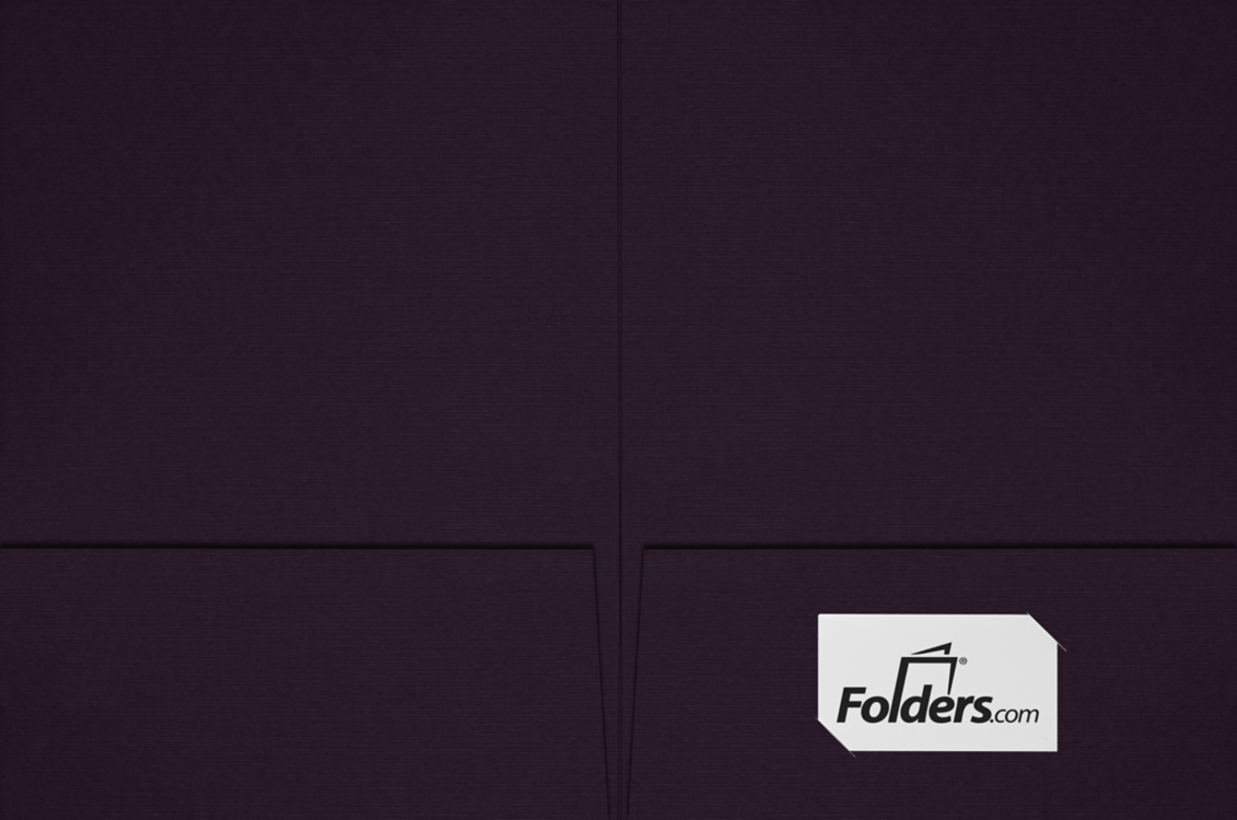 9 x 12 Presentation Folders - Standard Two Pocket Dark Purple Linen