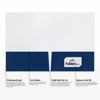 9 x 12 Presentation Folders - Standard Two Pocket Navy Gloss