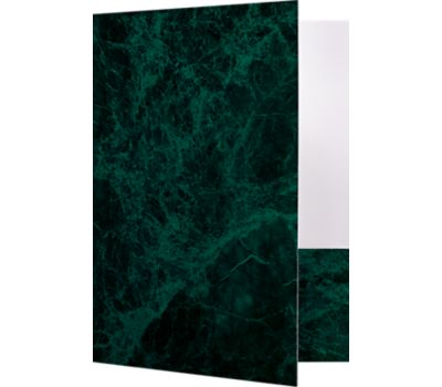 9 x 12 Presentation Folders - Standard Two Pocket Green Marblecoat