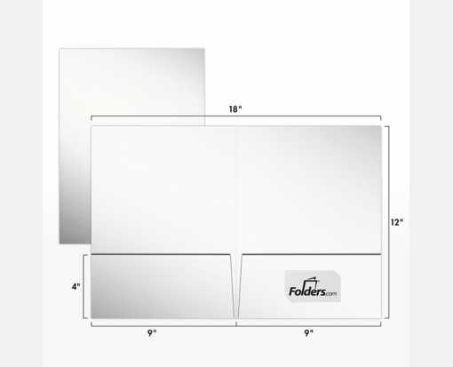 9 X 12 Presentation Folders Standard Two Pocket