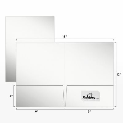 9 x 12 Presentation Folders - Standard Two Pocket White Gloss