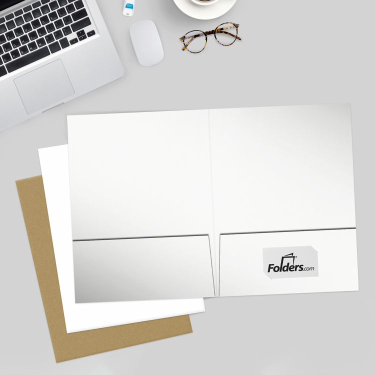 9 x 12 Presentation Folders White Gloss