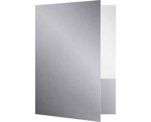 9 x 12 Presentation Folders - Standard Two Pocket Silver