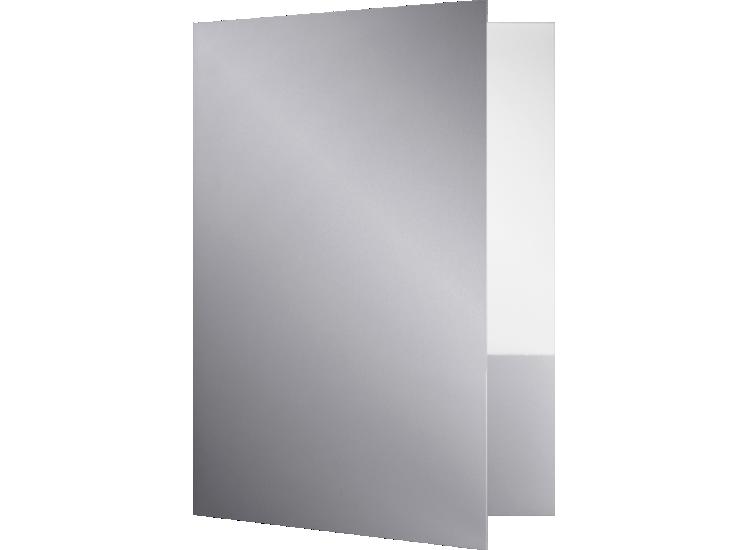9 x 12 Presentation Folders - Standard Two Pocket Silver