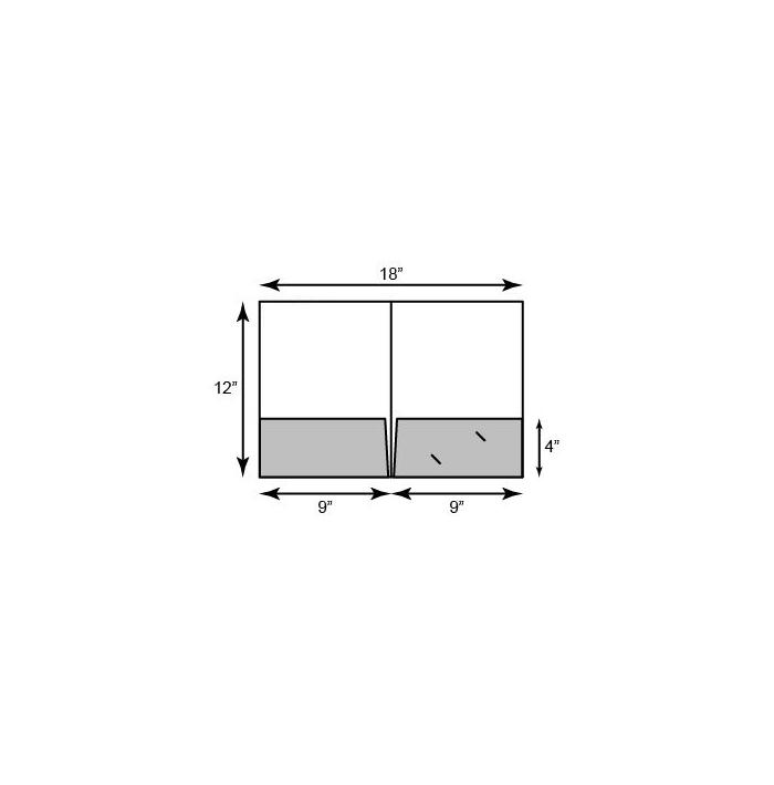 9 x 12 Presentation Folders - Standard Two Pocket