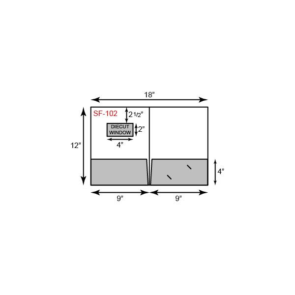 9 x 12 Presentation Folders - Standard Two Pocket w/ Front Cover Window