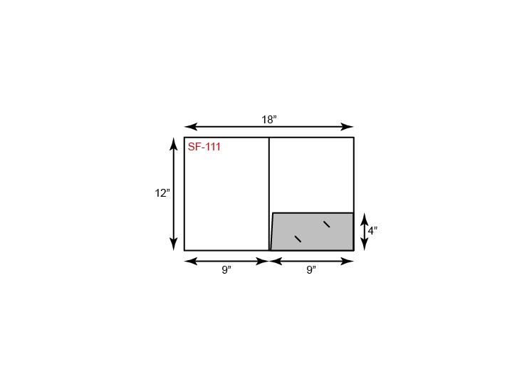 "9"" x 12"" Presentation Folders - Standard One Pocket (Right)"