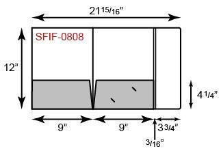 9 x 12 Presentation Folders - Tripanel Two Pocket w/ Info Flap