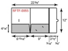 9 x 12 Presentation Folders - Two Pocket w/ Tuck Tab Flap (Right)