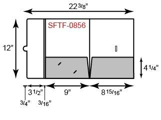 9 x 12 Presentation Folders - Two Pocket w/ Tuck Tab Flap (Left)