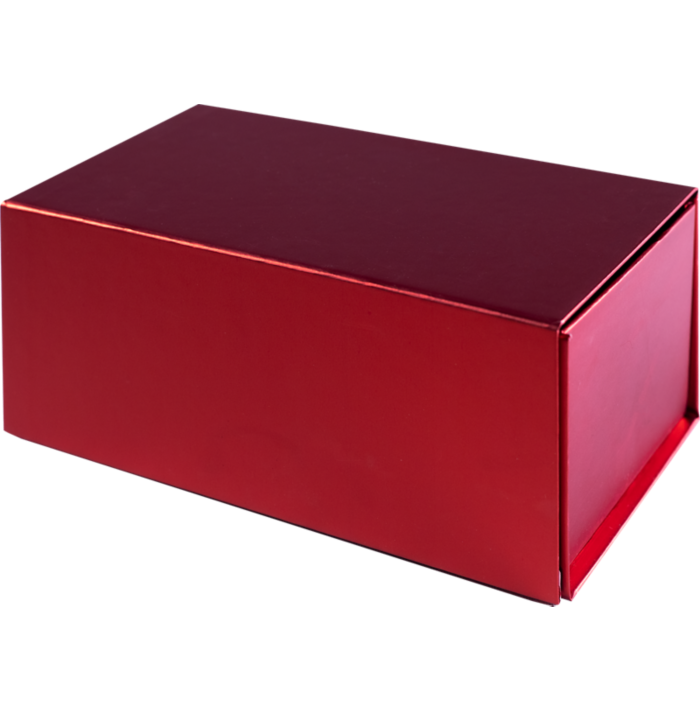 Small Gift Boxes w/ Magnet Red Metallic
