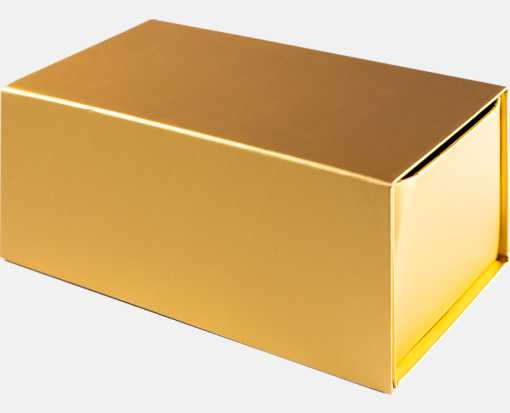 Small Gift Boxes w/ Magnet Gold Metallic