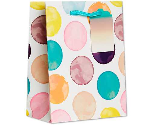 Small (7 1/2 x 6 x 3) Gift Bag Painted Dot