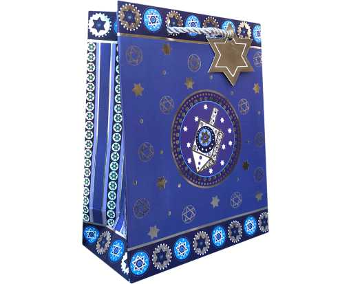 Small (7 1/2 x 6 x 3) Gift Bag Traditional Hanukkah