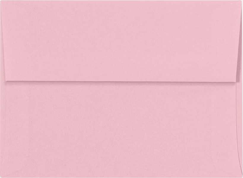 pastel pink a6 envelopes square flap 4 3 4 x 6 1 2 envelopes com