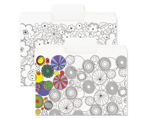 9 1/2 x 11 5/8 Coloring File Folders 11pt. White