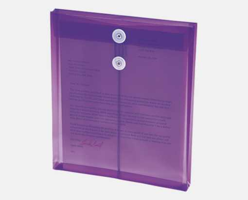 9 3/4 x 11 5/8 Poly Button & String Open End Envelopes Purple