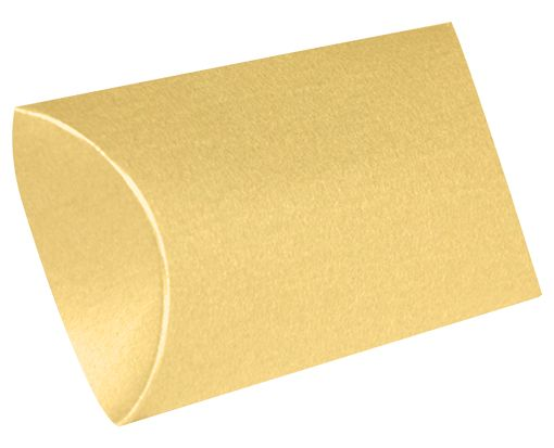 Small Pillow Boxes (2 x 3/4 x 3) Gold Metallic