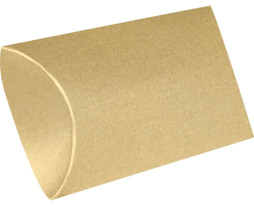 Small Pillow Boxes (2 x 3/4 x 3) Blonde Metallic