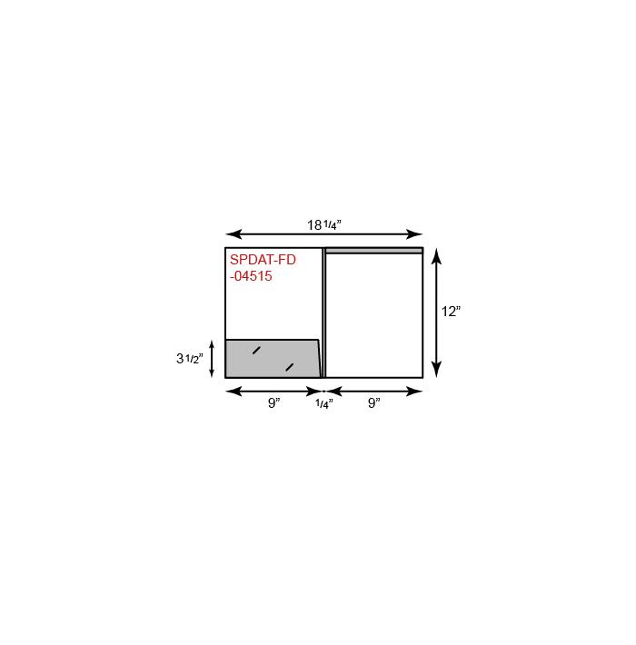 "9"" x 12"" Presentation Folders - One Pocket (Left) w/ Document Attachment Tab & 1/4"" Double Scored Spine"