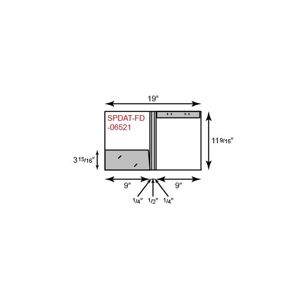 "9"" x 12"" Presentation Folders - One Pocket (Left) w/ Document Attachment Tab & 1"" Double Scored Spine"