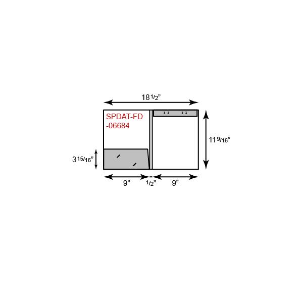 "9"" x 12"" Presentation Folders - One Pocket (Left) w/ Document Attachment Tab & 1/2"" Double Scored Spine"