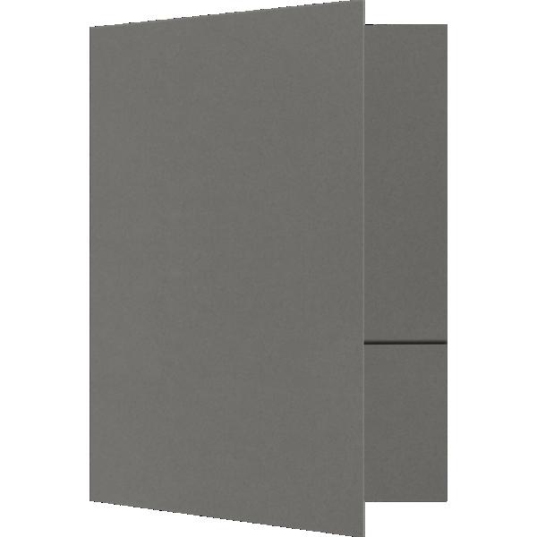 6 x 9 Small Presentation Folders - Two Pockets Smoke