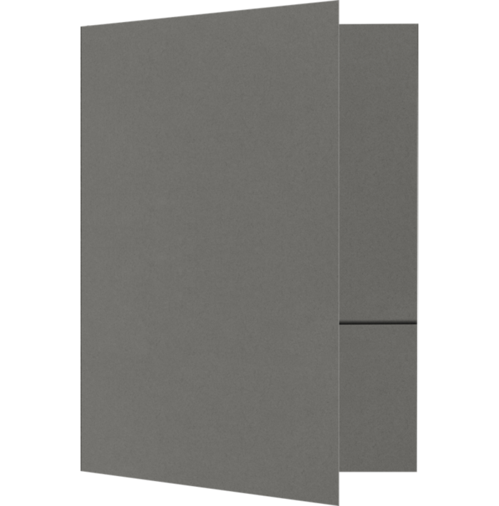 6 x 9 Small Presentation Folders Smoke