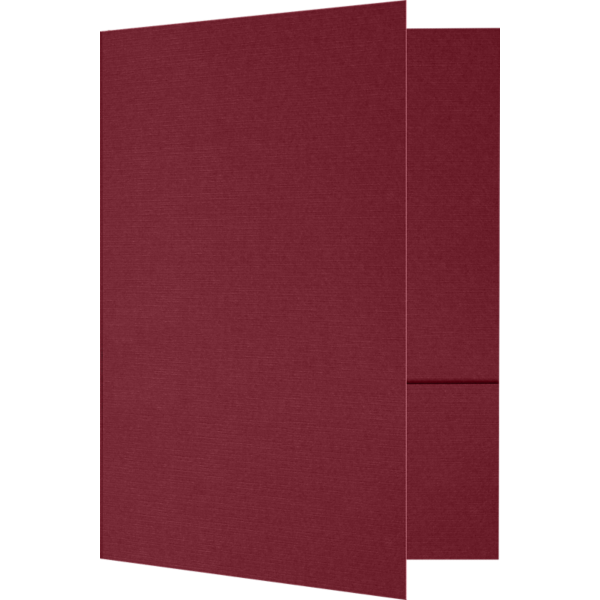 6 x 9 Small Presentation Folders Burgundy Linen