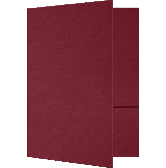 6 x 9 Small Presentation Folders Burgundy Linen
