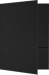 6 x 9 Small Presentation Folders Black Linen