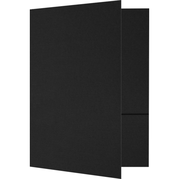 6 x 9 Small Presentation Folders Black Linen