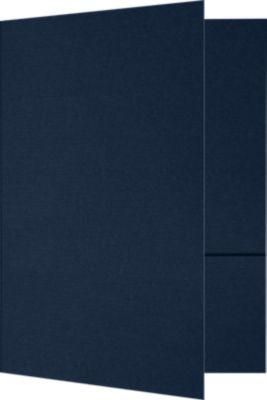 6 x 9 Small Presentation Folders Nautical Blue Linen