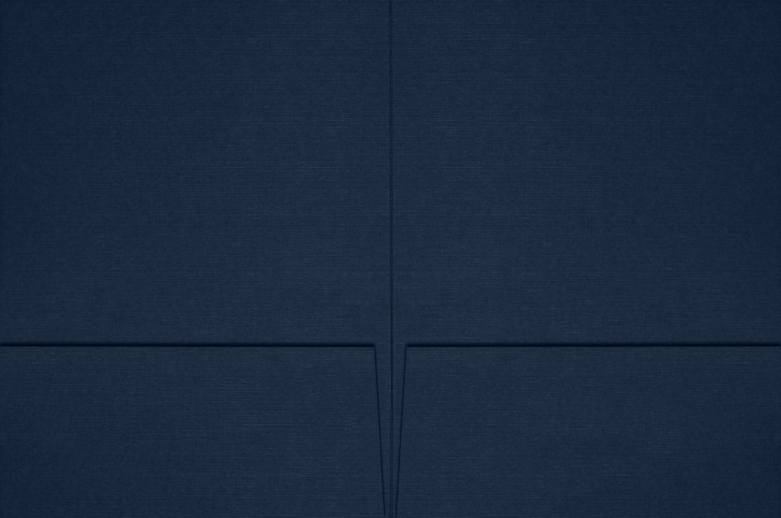 6 x 9 Small Presentation Folders Nautical Blue Linen