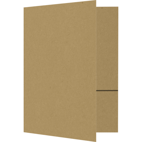 6 x 9 Small Presentation Folders - Two Pockets Grocery Bag