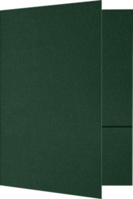 6 x 9 Small Presentation Folders - Two Pockets Green Linen