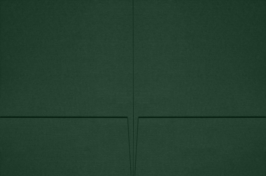 6 x 9 Small Presentation Folders Green Linen