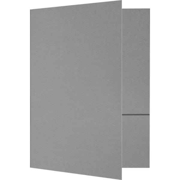 6 x 9 Small Presentation Folders Sterling Gray Linen