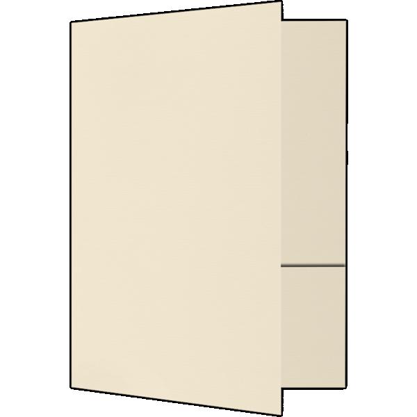 6 x 9 Small Presentation Folders - Two Pockets Natural Linen