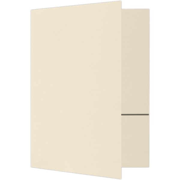 6 x 9 Small Presentation Folders Natural Linen