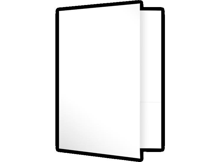 6 x 9 Small Presentation Folders - Two Pockets Bright White Gloss