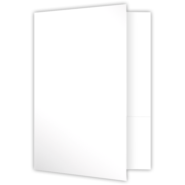 6 x 9 Small Presentation Folders Bright White Gloss