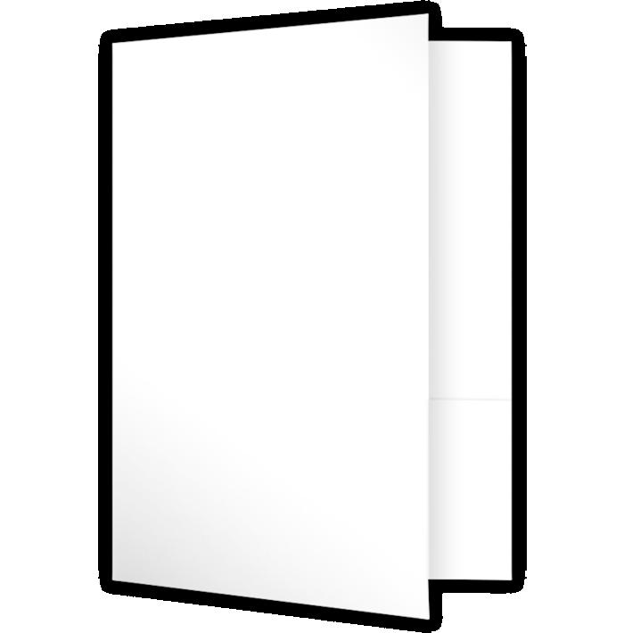 6 x 9 Small Presentation Folders Bright White Gloss