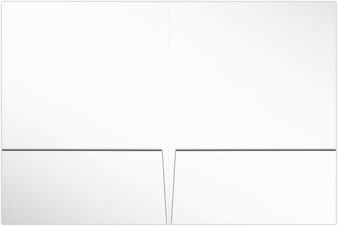 6 x 9 Small Presentation Folders - Two Pockets Bright White Gloss