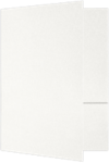 6 x 9 Small Presentation Folders White Linen